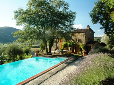 Photo for Luxury Villa with Private Pool and views across the Niccone Valley