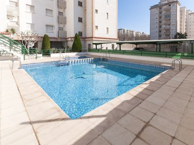 Photo for KOSMOS - Apartment with shared pool in Playa de Gandia.