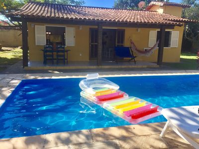 Photo for Wonderful 4 bedroom house and huge lounging area and pool near the beach