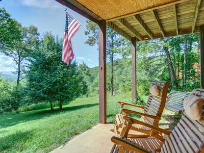 Photo for Mountain home w/ patio, firepit, fireplace &  great views - dogs welcome!