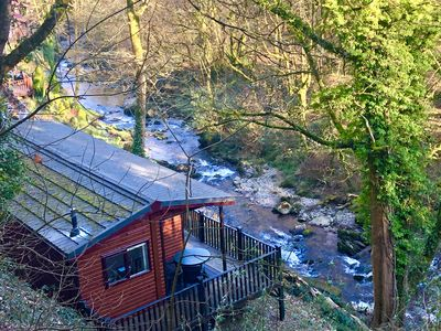 Photo for Riverside two bed lodge with amazing views of the River. 12 min walk to Lynton