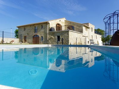 Photo for Character stone farmhouse, 250m2 of living space, Pool Heated 13m x 6m