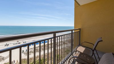 Photo for Rental for 6 with Oceanfront Balcony | Private Beach + Spa On-Site!