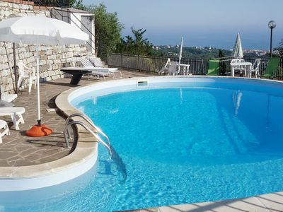 Photo for Lovely apartment for 6 guests with pool, WIFI, TV, balcony and parking