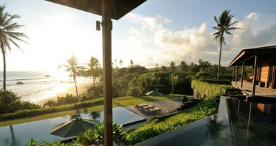 Photo for Private Bali Beach Retreat, 2 Bed., 33-metre Pool, Private Chef, Privacy, Car