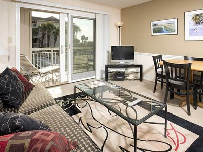 Photo for 119 Breakers | Overlooks Pool w/ Slight Ocean View | Walk to Dining & Shopping @ Coligny Plaza!