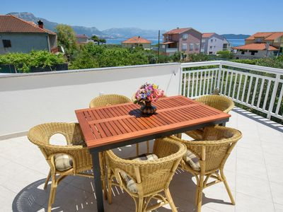 Photo for 3 minutes walking to the beach, Seaview Apt with 37m2 seaview terrace, BBQ
