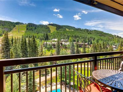 Photo for Delightful 2 Bedroom Mountain View Ski-in/Ski-out Vail Condo, Hot tub, Pool