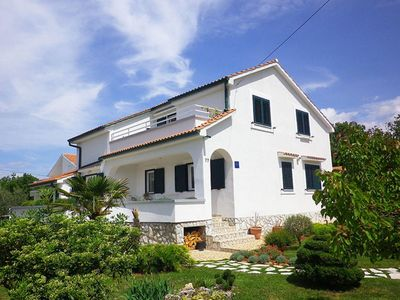 Photo for Lovely and cheerful apartment in Brzac, Island Krk, Croatia for 4 persons