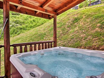 Photo for Cabin w/Hot Tub & Home Theater in Gatlinburg!