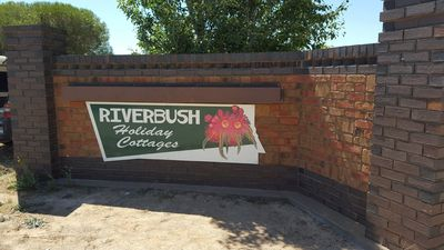 Entrance to Riverbush is easy to find and right opposite the Big Orange
