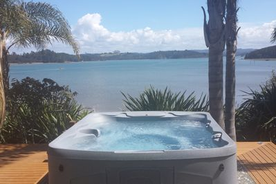 Have a spa and enjoy the amazing views over the bay