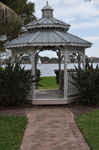 Private pergola exclusively for the community by the Intracoastal