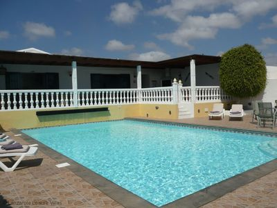 Photo for Casa Cielo superb detached villa, private heated non-chlorine pool, SKY, WiFi, sleeps 8 in 4 bdrms