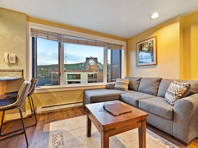 Photo for Ski-in/ski-out top floor studio, shared pool/hot tub - near everything!