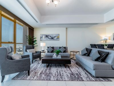 Photo for Large 3 Bedroom Apt. in MBK Tower, Sheikh Zayed road