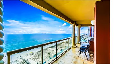 Photo for Luxurious 3BR SkyHome with Panoramic Ocean Front Views and Steps From The Beach!