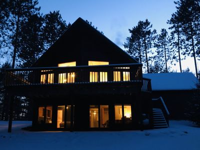 Photo for Beautiful Chalet Home located on Big Round Lake