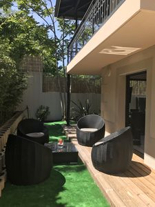 Photo for T2 - Arcachon center - Terrace with trees 90 m² - Beach 100 m,