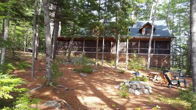 Photo for Amazing lakefront house on 12+ acre private peninsula on quiet lake