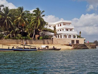Photo for Luxury beachfront holiday house, pool garden all sea views, Forodhani House Lamu