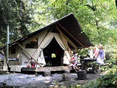 Photo for Camping Huttopia Rambouillet *** - Trapper Tent 3 Rooms 5 Persons