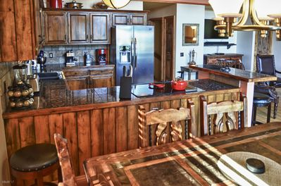 large kitchen open to the great-room,  perfect for feeding large groups