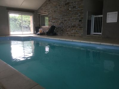 Photo for Gite With pool between land and sea accessible morbihan Andicap