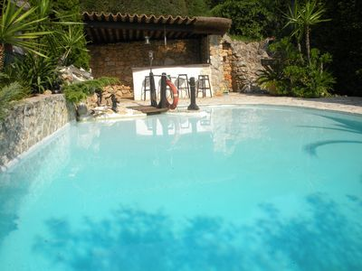 Photo for JUAN LES PINS Villa 115 m² with 55 m² pool and pool house + garden