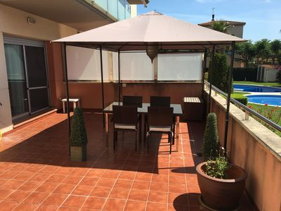 Photo for Cambrils. Apartment with pool ground floor 300 meters from the beach