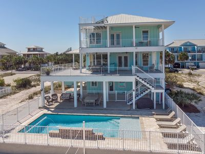 Photo for Luxurious Gulf House with BOTH Beach & Bay access. Private Beach & Private Pool