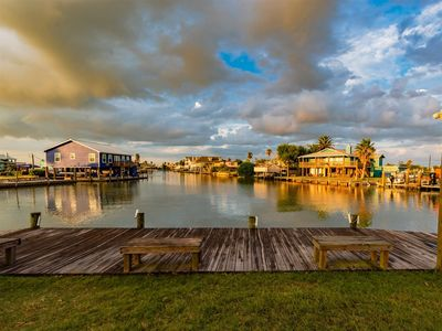 Gorgeous canal views from the peninsula lot