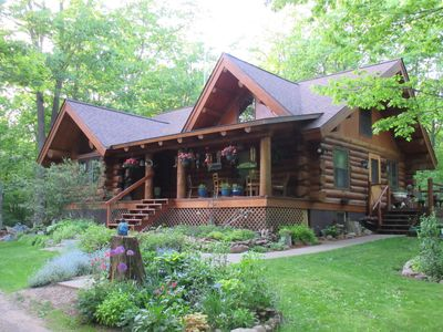 Photo for Beautiful, Authentic Log Cabin Home, Complete With All of the Classic Luxuries.