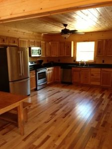 Nice Kitchen with Granite, SS Apps, Hickory Floors & Cabinets