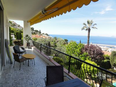 View from the sea side terrace : on your left