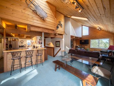 Photo for The Ned 'Stead: sunny spacious mountain home with sauna, fab views, dog friendly