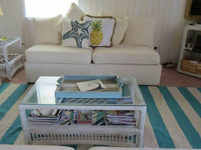 Turquoise Decor -Pull out Sofa with Bed