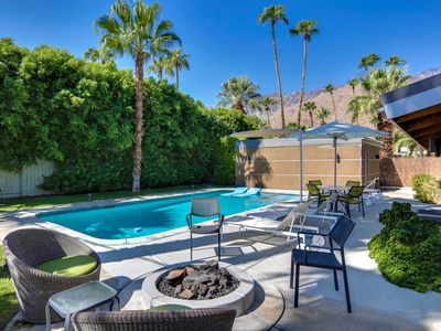 Photo for Relax in this completely upgraded Mid Century modern pool home in Twin Palms