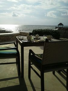 Can not miss breakfast on the beach