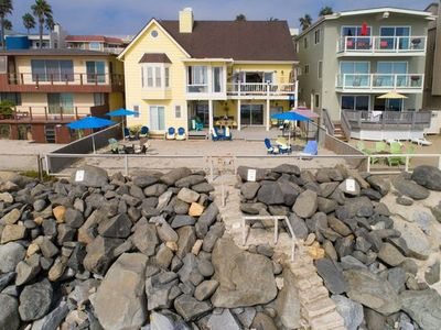 Photo for Charming Beach Front 5 bedroom, 5 bath home (sleeps 10) with AC