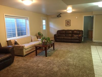Photo for Spacious 3 Bedroom Basement Apartment w/full Kitchen and large living room.