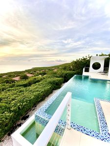 Infinity edge, ocean, sky, where else would you rather be! Oceanvillas Curacao!