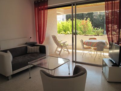 Photo for Beautiful type 1 in gated community in the heart of the village with terrace and parking