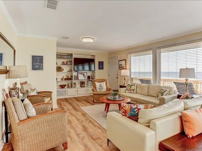 Newly Renovated**3 Bedroom, 2 Bath Oceanfront home sleeps 6 guests.  Features deck which overlooks the Atlantic Ocean.