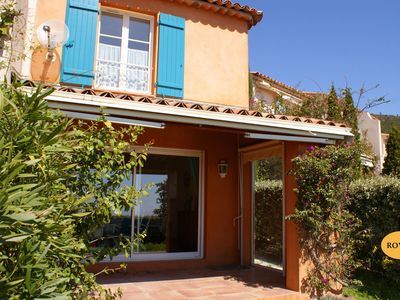 Photo for Terraced house: (3/4 persons), garden terrace, sea view * ROVI 36