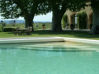 Photo for Luxurious farmhouse on the wine route in Provence (2 and 4 people, no children allowed)