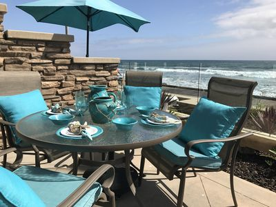 Photo for Beautiful Oceanfront Villa, Oceanfront Patio, Airy and Spacious, Open Living