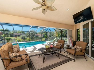 Photo for Waterfront Home with Heated Pool,  Bikes, and Callaway Golf Club set