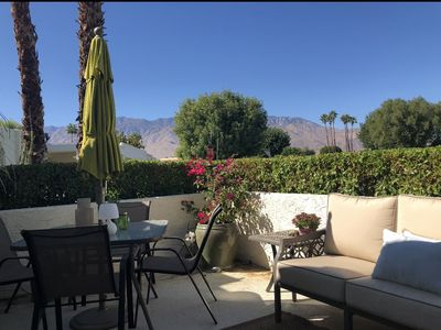 Photo for Gorgeous corner condo with two private patios!