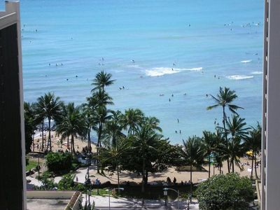 Photo for Great Ocean View/500 Ft to Waikiki Beach, $150/nt